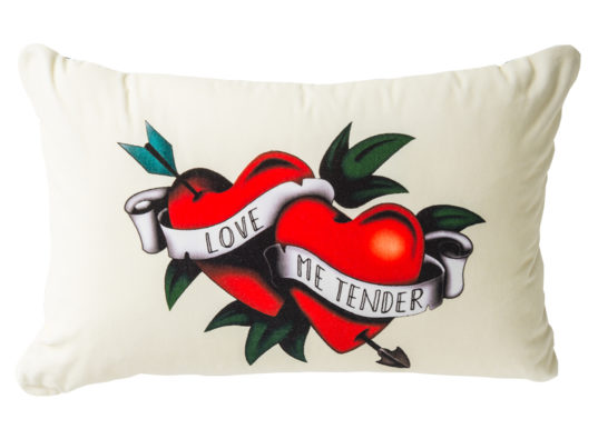 lorraine osborne.love me tender cushion